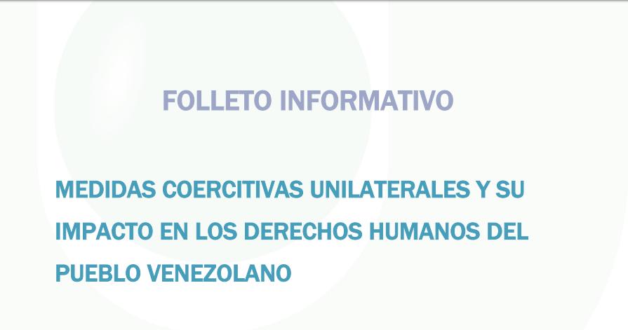Folleto Informativo | Medidas coercitivas unilaterales