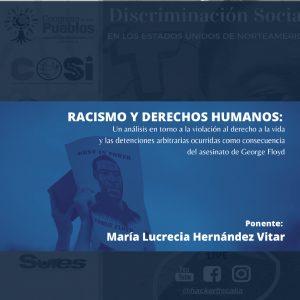 PONENCIA: RACISMO Y DERECHOS HUMANOS: UN ANÁLISIS EN TORNO A LA VIOLACIÓN AL DERECHO A LA VIDA...